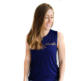 Namaste Open Back tank top Blue