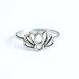 Lotus sterling silver ring