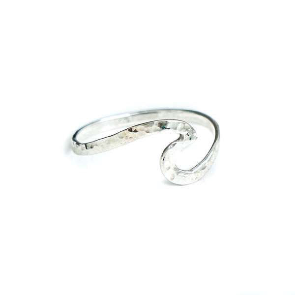New Wave hammered Silver Ring