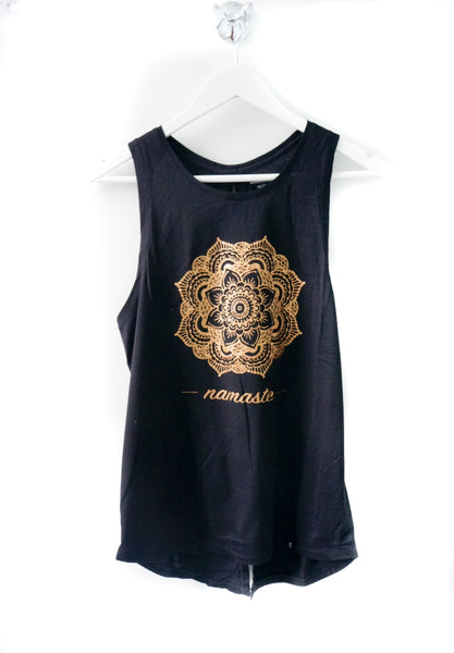 Mandala Flower Tie up Tank