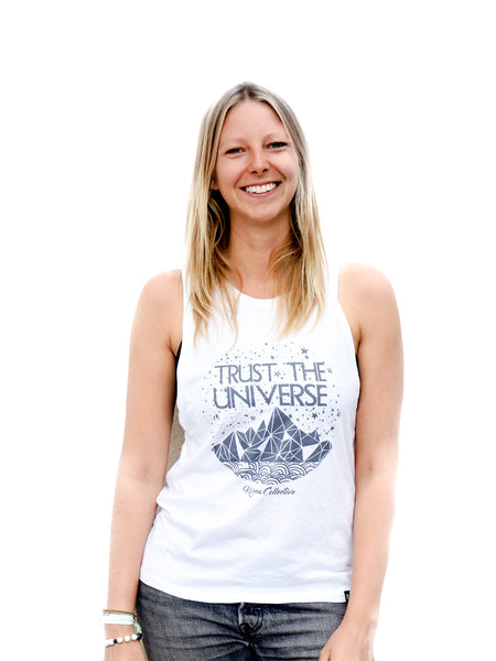 Trust the Universe Open Back- White