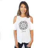 Mandala Flower Off the Shoulder t-shirt