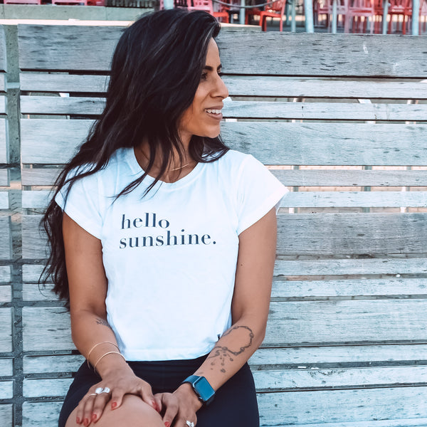 Hello Sunshine Short Boxed t-shirt