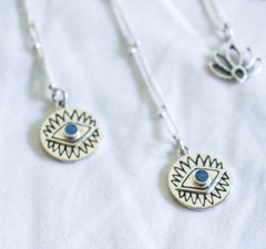 Karma Collective Tribal Eye Necklace with Opal