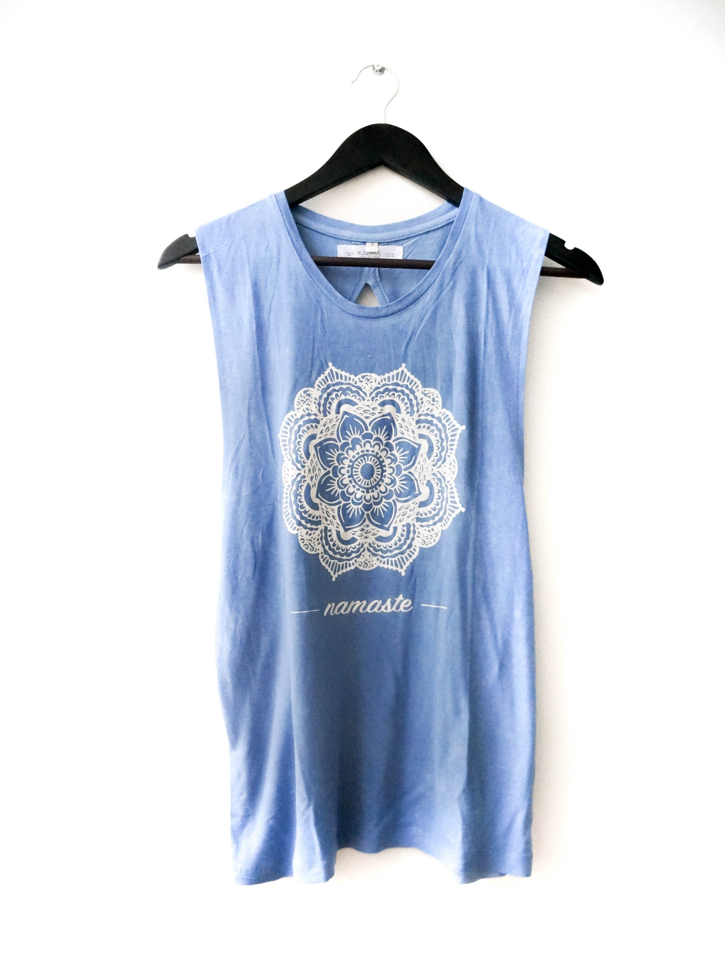 MANDALA FLOWER OPEN BACK TANK