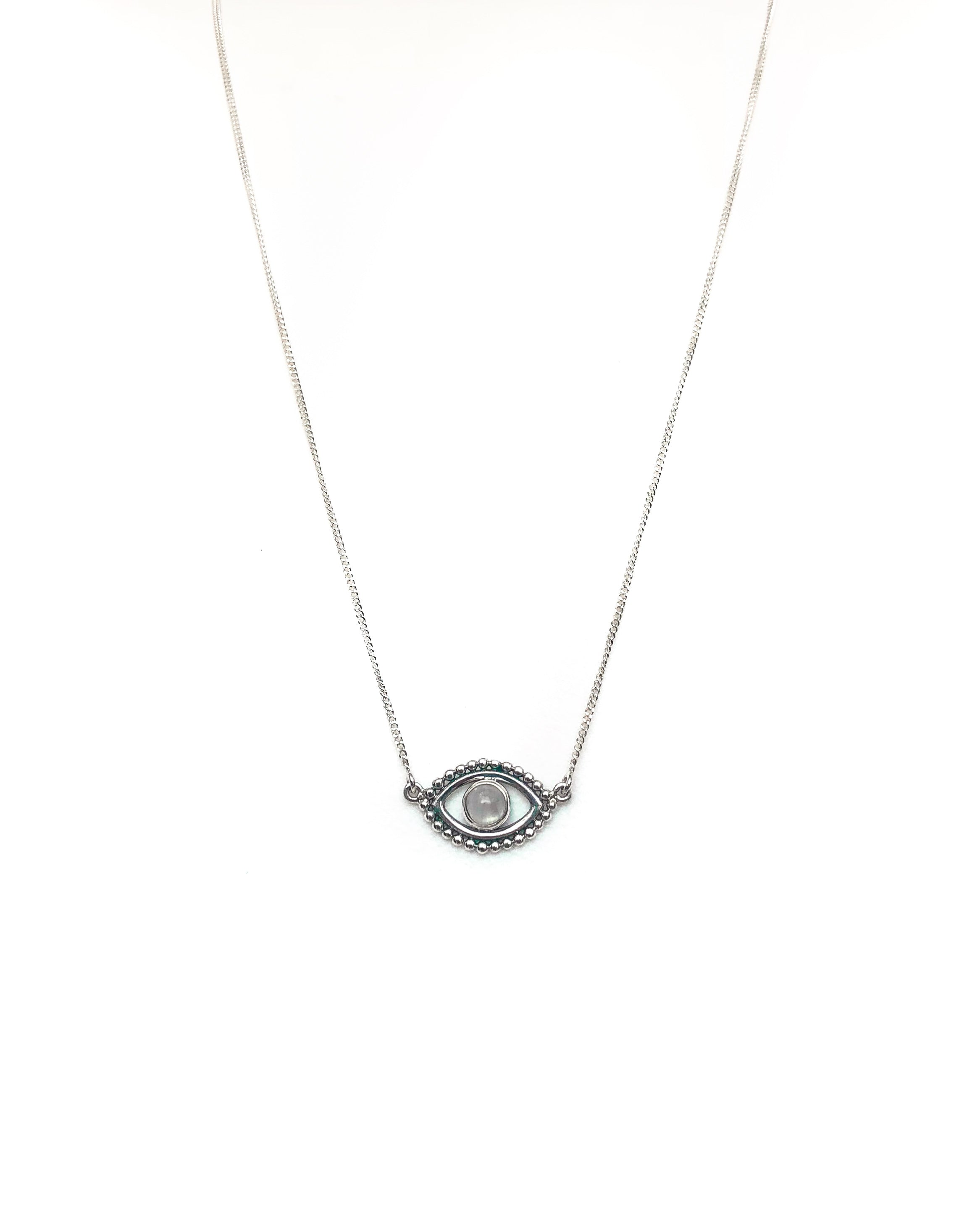 Karma Collective Moonstone Evil eye necklace