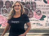 Happy V-back Tshirt