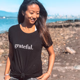 Grateful V-back T-shirt