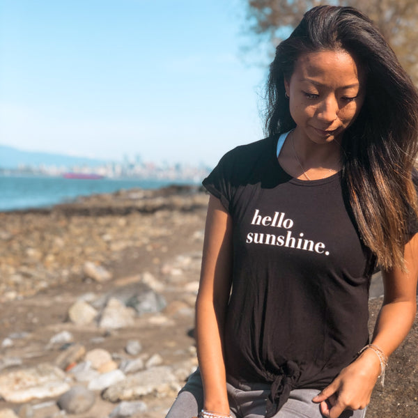 Hello Sunshine Tie Up T-shirt