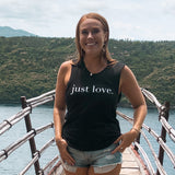 Just Love Muscle Tank- Black