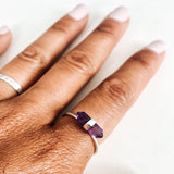 Amethyst Prism Crystal Ring