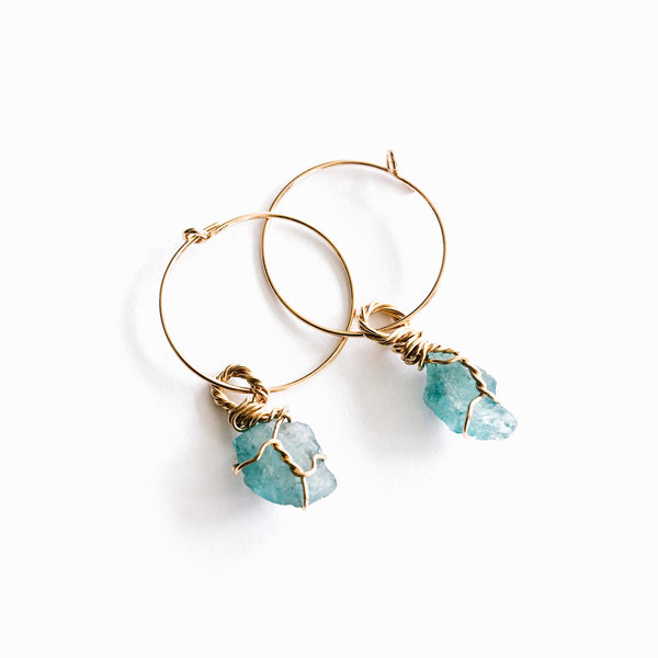 Apatite 14k Gold Filled Hoops Small
