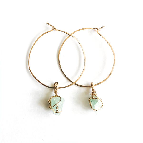 Aquamarine 14k Gold Filled Large