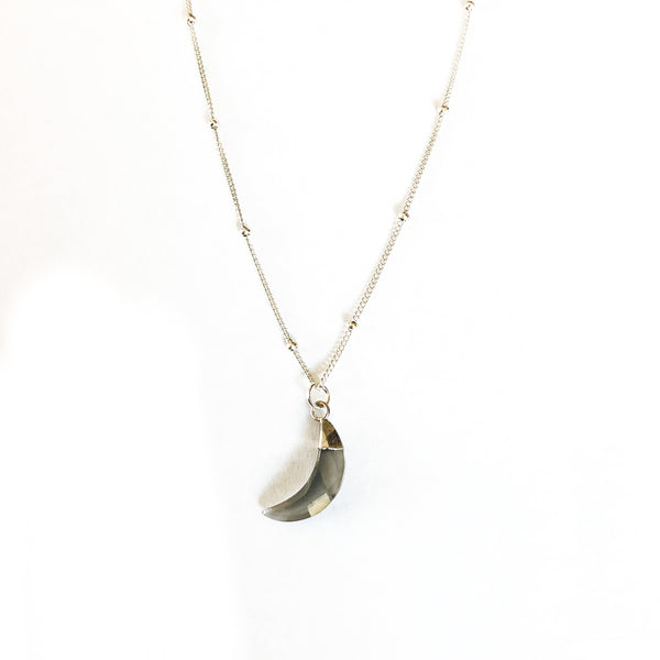 Grey Moonstone Faceted Necklace