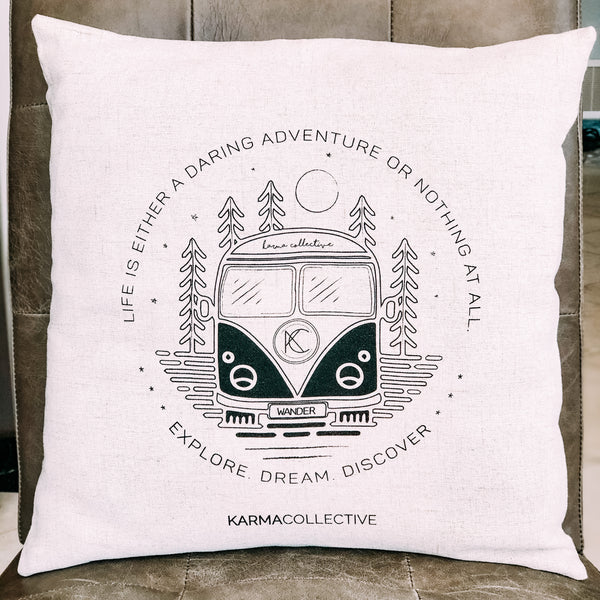 Wanderbus Indoor/Outdoor Pillow Case
