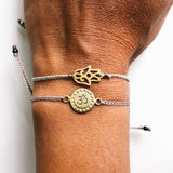 Hamsa Gold Plated Brass Braided Bracelet
