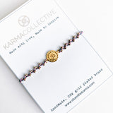 OM Gold plated Tri-Color Braided Bracelet