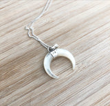 Mother of Pearl Crecent Moon Necklace