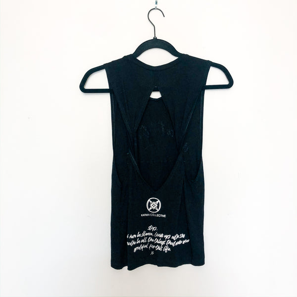Gratitude twist back tank top