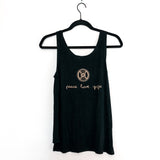 KC peace love yoga bamboo tank top