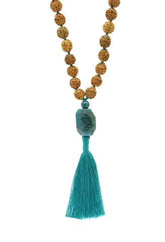 Practice Mala with Gemstone Apatite