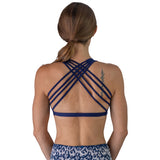 Dressy Sports Bra - Navy Blue - Pi Yoga Pants