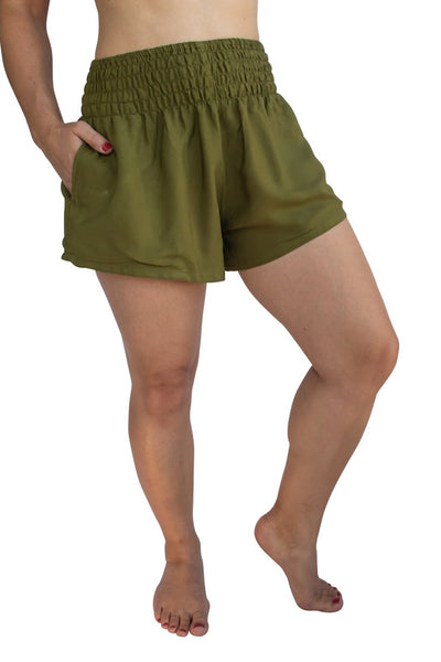 Olive Green (Green) - Shorts