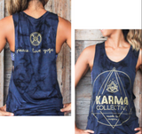 KC peace love yoga tie dye tank