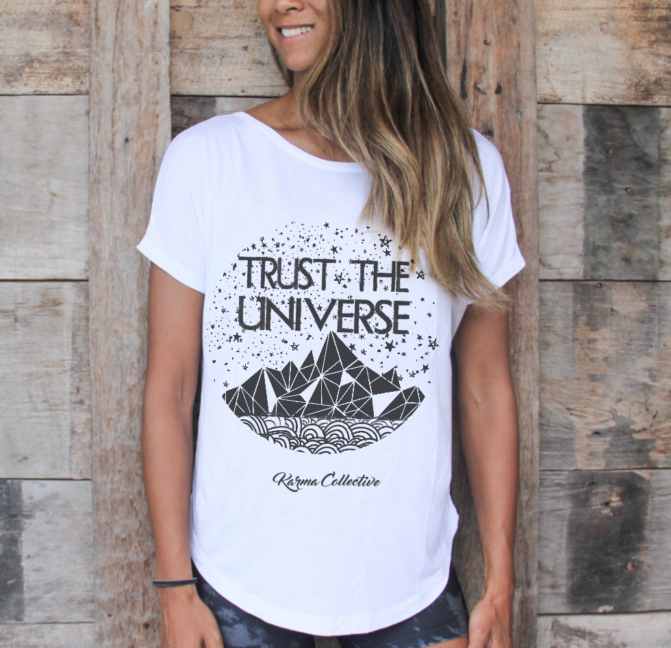Karma Collective Trust the Universe Vback tshirt