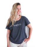 Happy Vintage Charcoal T-shirt