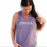 Grateful. Muscle Tank Purple Sage