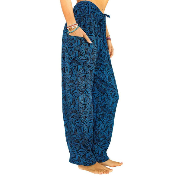 PI  -  Arctic Crush (Blue/Black) - Scrunched Bottom  -   -  Women's Scrunched Bottom Pants size 0-12  -  pi-yoga-pants