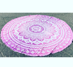 Karma Collective ROUNDIE:Pink Ombre roundie tapestry