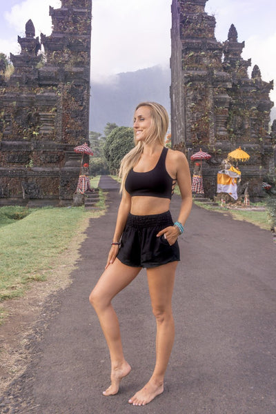 PI  -  Black is the New Black - Shorts  -   -  Women's Shorts size 0-12  -  pi-yoga-pants