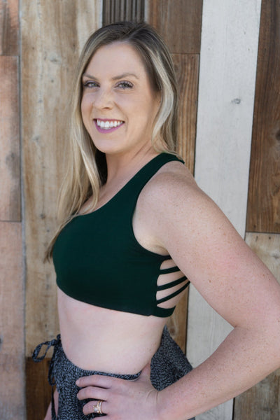 Dressy Sports Bra - Emerald Slate - Pi Yoga Pants