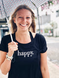 Happy. Vback t-shirt black