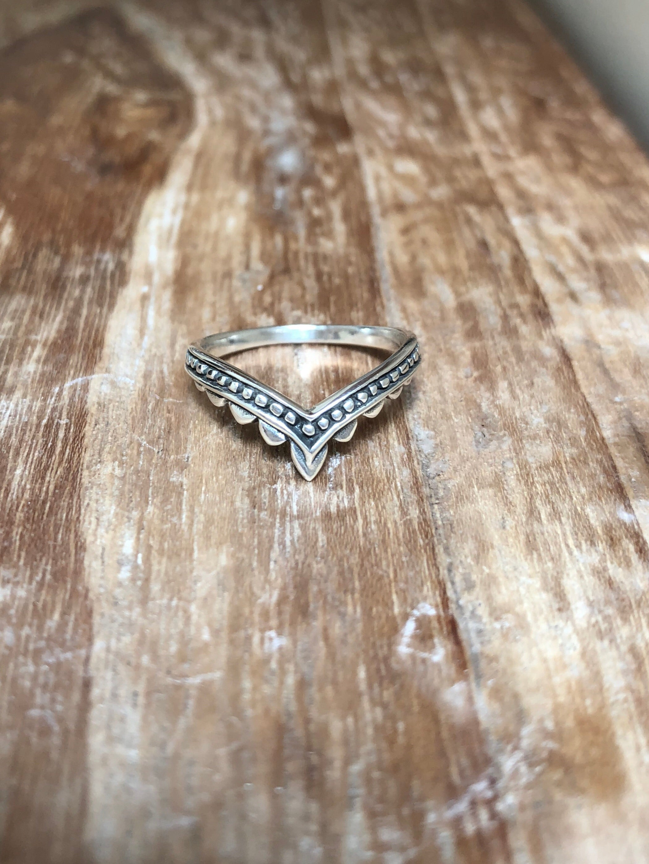 Diana sterling silver ring