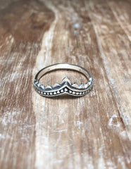 Karma Collective Diana sterling silver ring
