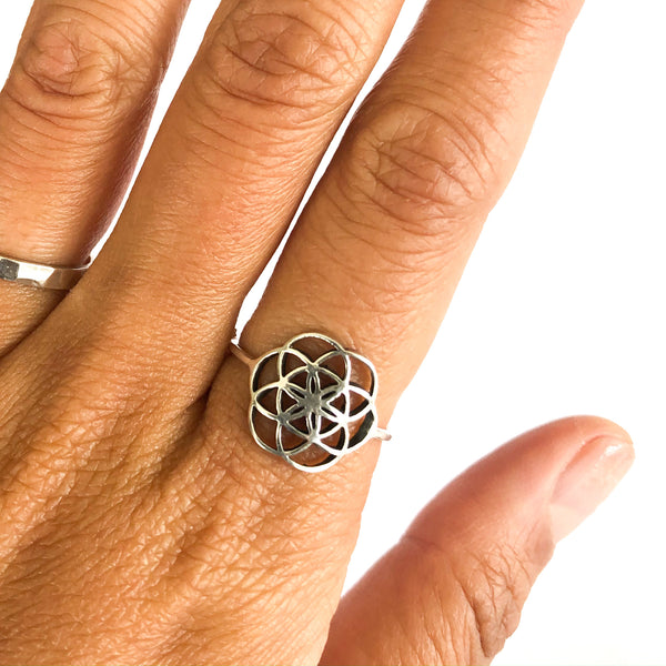 Seed of Life Sterling Ring
