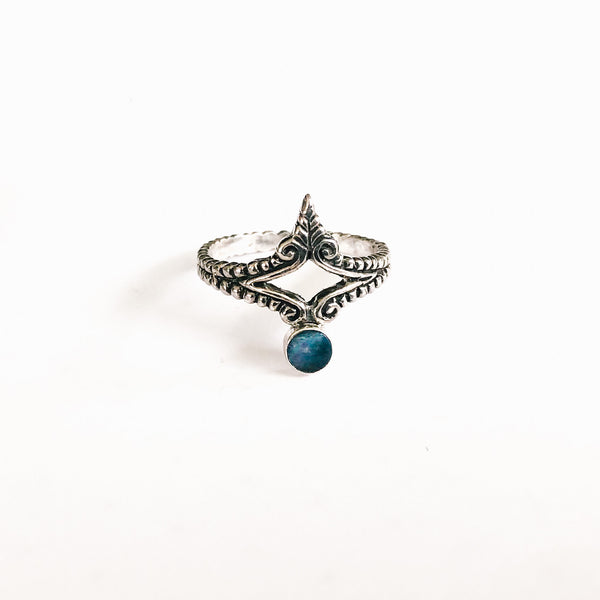 Athena blue opal ring