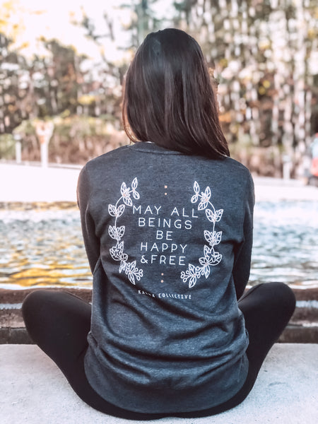 Happy + Free lightweight fleece sweatshirt