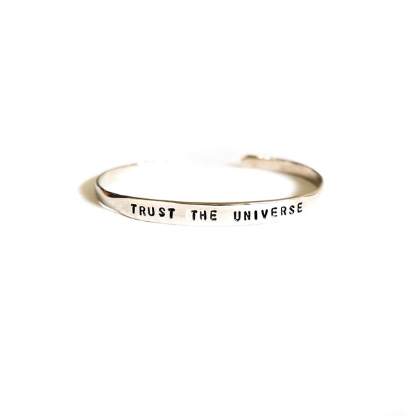 Trust the Universe Silver Brass Cuff