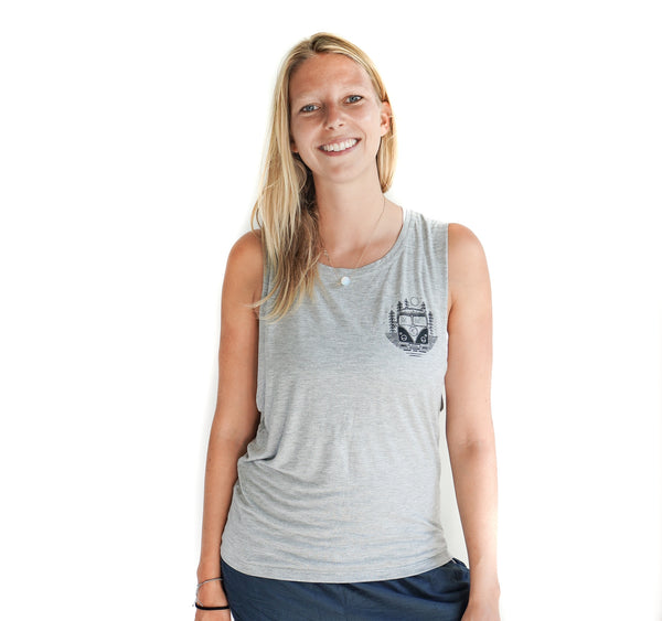 Explore. Dream. Discover Muscle Tank Grey