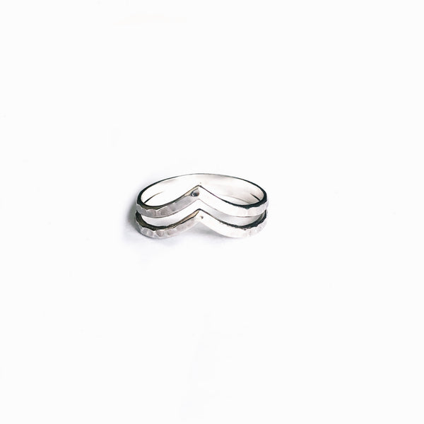 Chevron Sterling Silver Ring