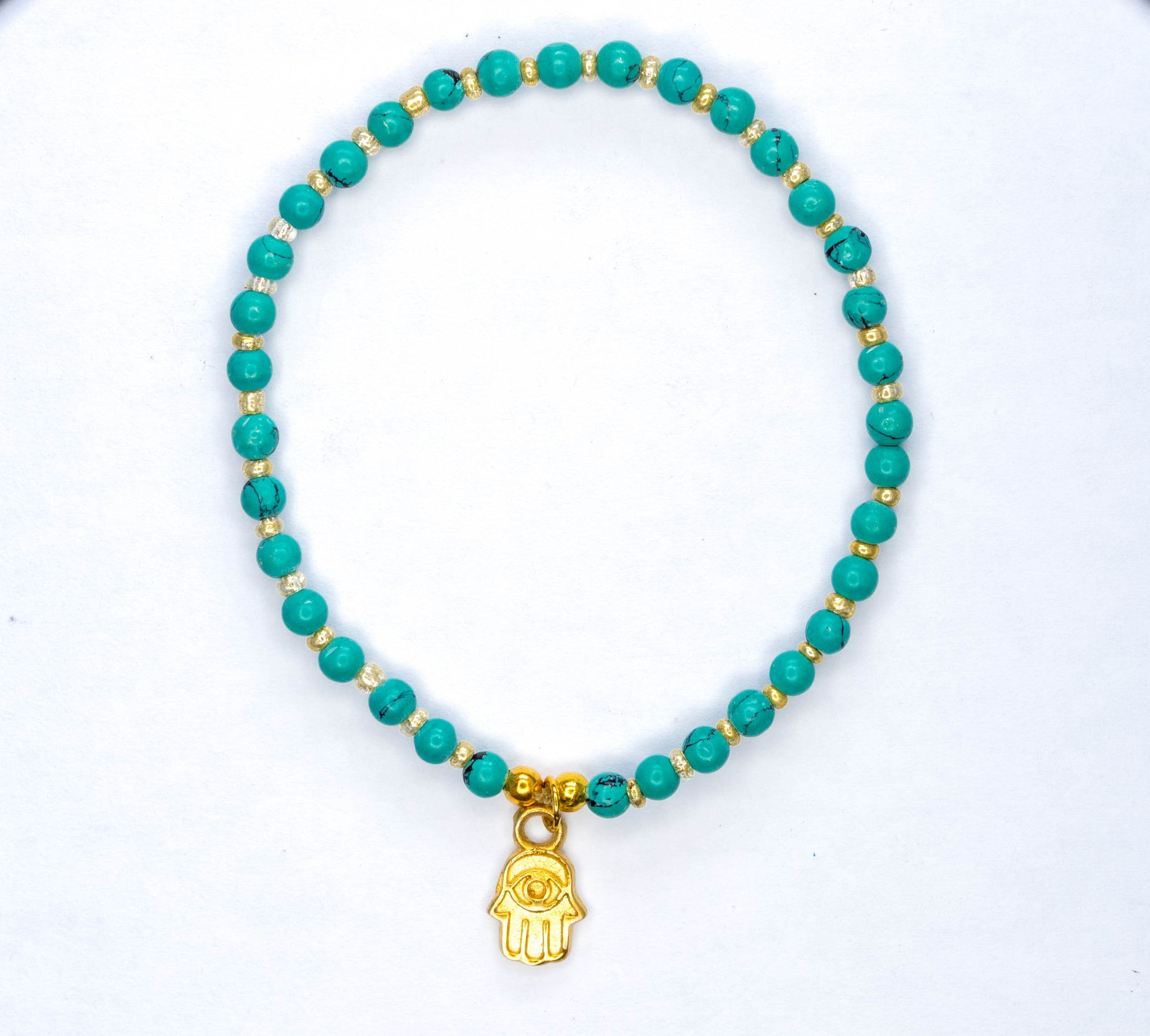to click enlarge hamsa connexions onyx bracelet turquoise truth integrity spirit