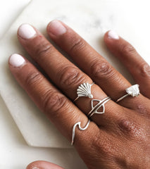 Karma Collective Sterling Silver Wave Ring