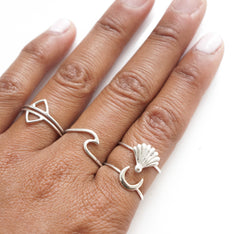 Karma Collective Crescent Moon Sterling Silver Ring