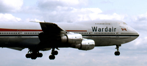 B.747-200 C-FXRA of Wardair about to land at YYZ in June 1983