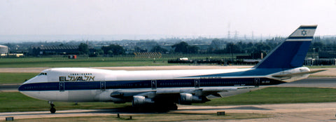 Delivered in May 1971, El Al's first 747-200 4X-AXA was shot by Wilf White at Heathrow on August 10, 1980