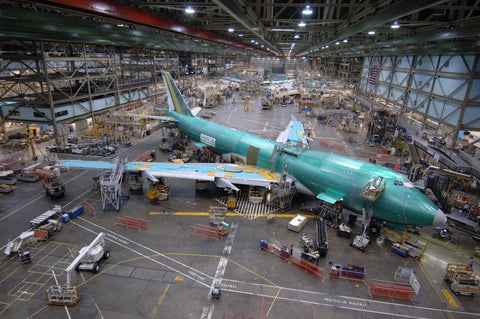 One of the last 747-8s on the line recently at Boeing in Seattle. (Boeing Photo K63934)